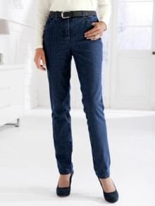 Damen-Thermo-Jeans 5-Pocket Dunkelblau Detail 1