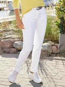 Macht-mich-schlank-Jeans Weiß Detail 1