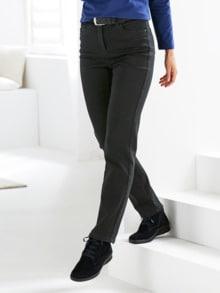 Bequembund-Kuschel-Jeans Anthrazit Detail 1