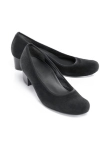 Hallux-Sensitiv-Stretch-Pumps Schwarz Velours Detail 1