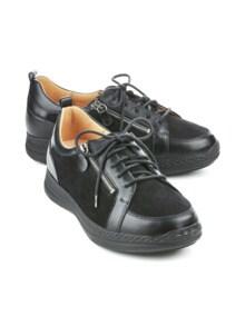 Ganter-Prophylaxe-Schuh Double-Zip Schwarz Detail 1