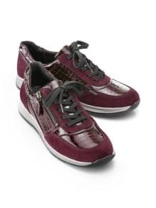 Reißverschluss-Sneaker Easyfit Bordeaux Detail 1