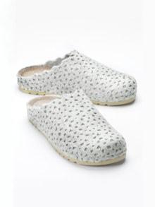Wollfilz-Pantolette Memory-Fußbett