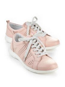 Leder-Leicht-Sneaker Rosé Detail 1