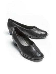 Softgel-Pumps Schwarz Detail 1