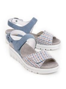 Hallux-Sandale de Luxe Hellblau Detail 1