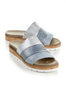 Pantolette Softpolster Hellblau Detail 1