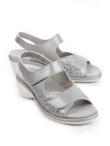 Hallux-Sandale Komfort Grau Perlato Detail 1