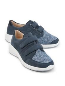 Hallux-Klettslipper Extraweit Jeansblau Detail 1