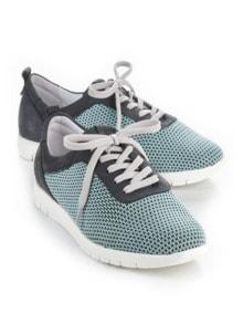 Hallux-Sneaker Strick-Dessin Blau Detail 1