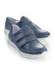 Klett-Sneaker Komfort Jeansblau Detail 1