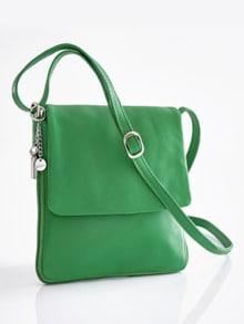 Leder-Handtasche Every Day Grün Detail 1