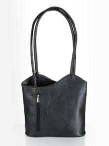 Leder-Rucksack-Tasche
