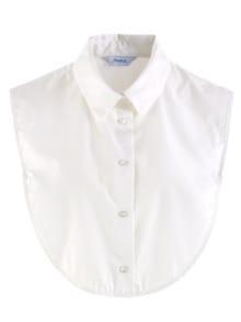 Blusenkragen Weiß Detail 1