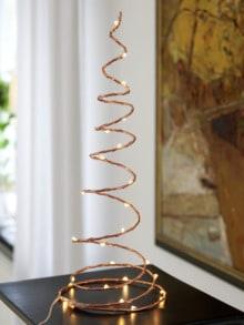 LED-Spiralleuchte Kupferfarben Detail 1