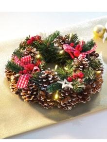 Weihnachtskranz LED-Zauber