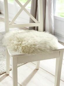 Natur-Lammfell-Sitzauflage