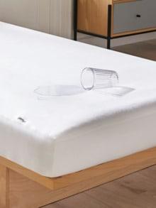 Spannbetttuch wasserdicht Weiß Detail 1