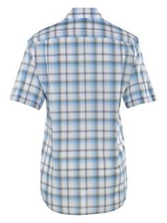 Seersucker-Hemd Tropenfrisch Weiß/Hellblau/Khaki Detail 3