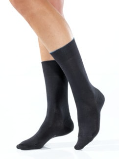 Baumwoll-Naturseide-Socken Anthrazit Detail 1