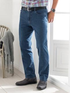 Rundum-Stretch-Jeans Mittelblau Detail 1