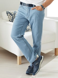 Sommerleicht-Jeans Hellblau Detail 1