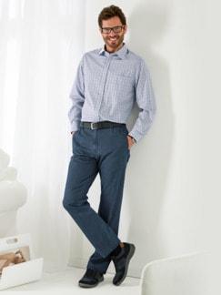 Komfortbund-Jeans High Class Dunkelblau Detail 2