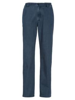 Komfortbund-Jeans High Class Dunkelblau Detail 3