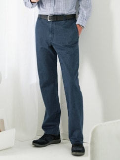 Komfortbund-Jeans High Class Dunkelblau Detail 1