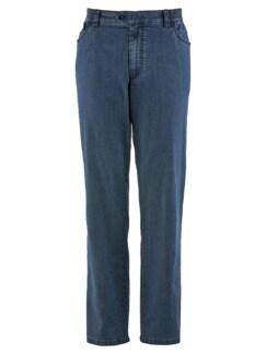 Baumwoll-Jeans Highstretch Mittelblau Detail 3