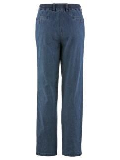 Baumwoll-Jeans Highstretch Mittelblau Detail 4