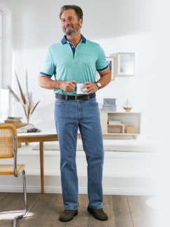 5-Pocket-Jeans Highstretch Mittelblau Detail 2