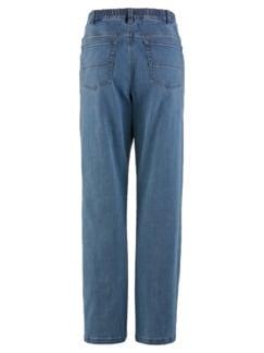 5-Pocket-Jeans Highstretch Mittelblau Detail 4