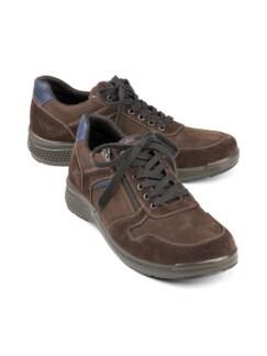 Reißverschluss-Sneaker Antishock Braun Detail 1