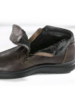 Bequem-Boots wasserabweisend Braun Detail 3