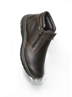 Bequem-Boots wasserabweisend Braun Detail 4