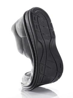 Bequem-Slipper Naturform Grau Detail 3