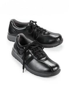 Hallux-Bequem-Sneaker Schwarz Detail 1