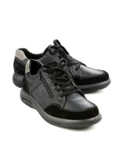 Aquastop-Reißverschluss-Sneaker Schwarz Detail 1