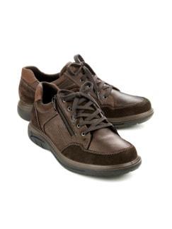 Aquastop-Reißverschluss-Sneaker Braun Detail 1
