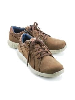Reißverschluss-Bequem-Sneaker Braun Detail 1