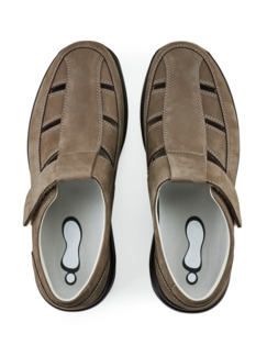 Joya-Sandalenschuh Rückenfreude Taupe Detail 4