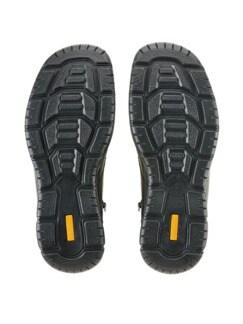 Lammfell-Reißverschluss-Stiefel Schwarz Detail 4