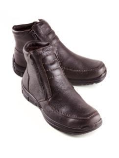 Lammfell-Reißverschluss-Stiefel Braun Detail 1