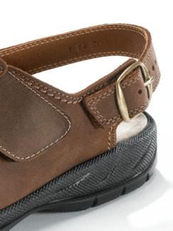 Mehrweiten-Sandale Extrakomfort Braun Detail 4