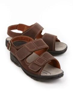 Mehrweiten-Sandale Extrakomfort Braun Detail 1