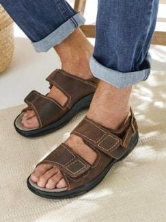 Mehrweiten-Sandale Extrakomfort Braun Detail 3