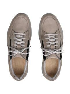 Doppel-Reißverschluss-Sneaker Grau Detail 4