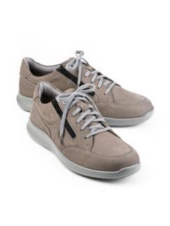 Doppel-Reißverschluss-Sneaker Grau Detail 1