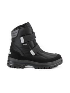 Aquastop-Spike-Klett-Boots Schwarz Detail 2